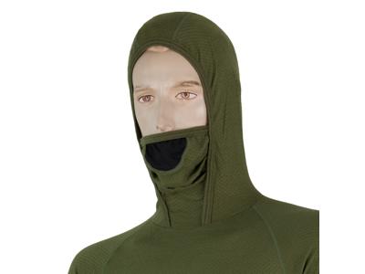 Sensor Merino DF Tee LS Hood - Ulltröja med huva - Män - Grön