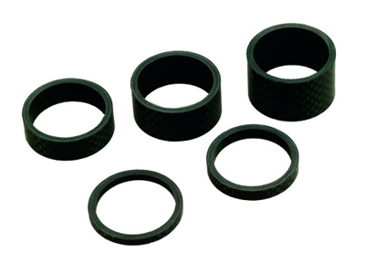 "Spacer Carbon sæt 1-1/8"" Sort"