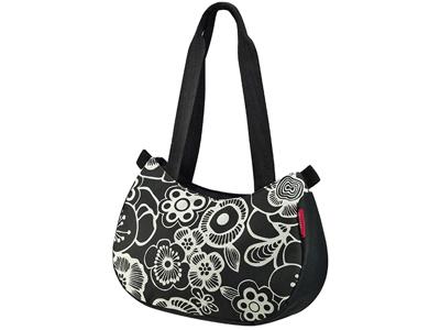 KLICKfix - Style bag - Sort med blomster 4 liter