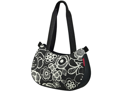 KLICKfix - Style bag - Svart med blommor 4 liter