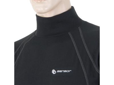 Sensor Double Face - Svedundertrøje med rullekrave - Sort