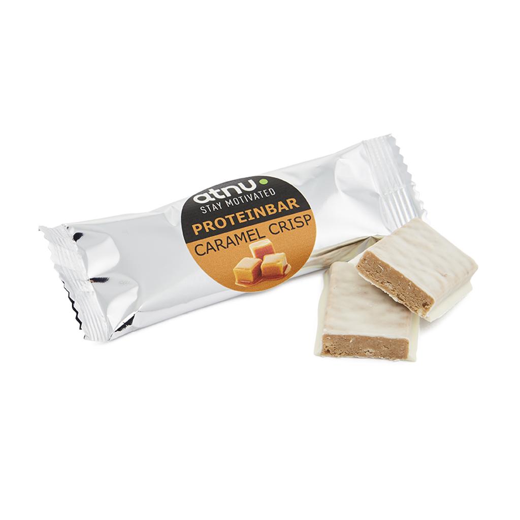 Atnu Snackproteinbar - Caramel crisp - 35 gram | Protein bar and powder
