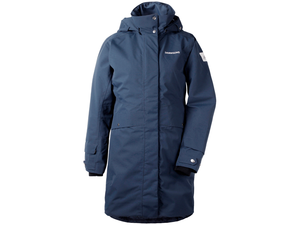 Image of   Didriksons Eline Womens Parka - Vandtæt damejakke m. for - Navy - Str. 40