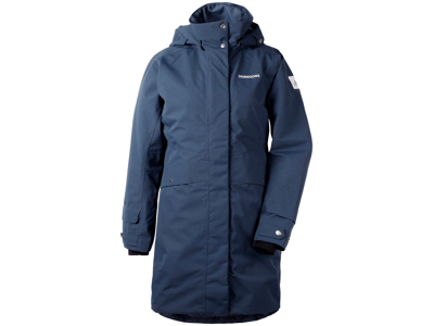 Didriksons Eline Womens Parka - Vandtæt damejakke m. for - Navy - Str. 38