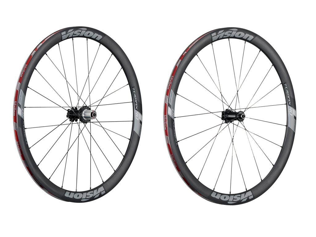 Image of   Vision Trimax Carbon 40 Disc CL - Hjulsæt - 700c - Clincher - Carbon/Alu