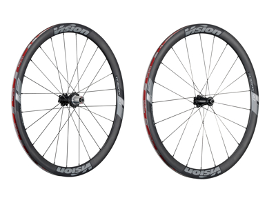 Vision Trimax Carbon 40 Disc CL - Hjulsæt - 700c - Clincher - Carbon/Alu