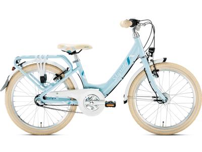 """Puky Skyride 20-3 alu light - Børnecykel 20"""" med 3 gear - Azurblå"""
