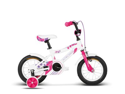 "Kross Maya - Børnecykel - 12"" - Hvid/pink"