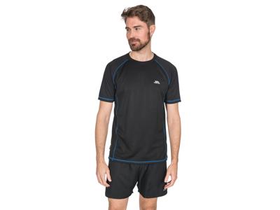 Trespass Albert - T-Shirt Quick Dry - Hr. - Sort