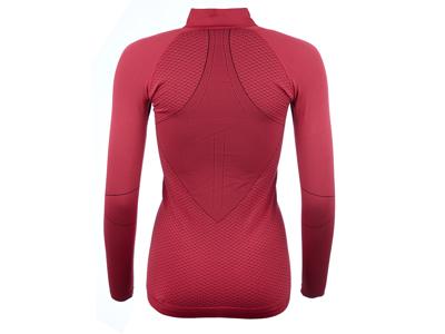 Odlo 1/2 zip Evolution warm - Langærmet bluse til dame - Bordeaux
