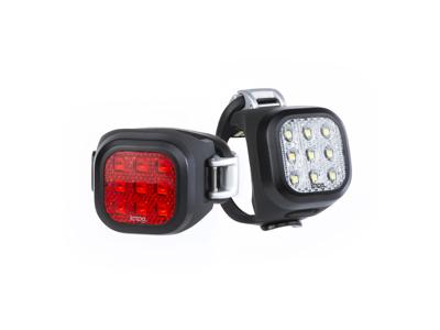 Knog - Cykellygtesæt Blinder Mini Niner - Sort - USB opladelig