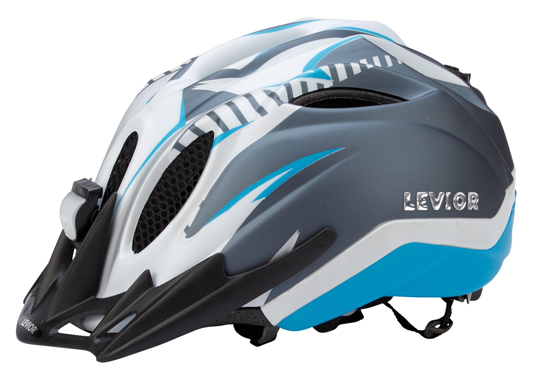 Levior cykelhjelm Primo Refleks Str. 52-58 cm - Hvid-Blå-Matt | Helmets