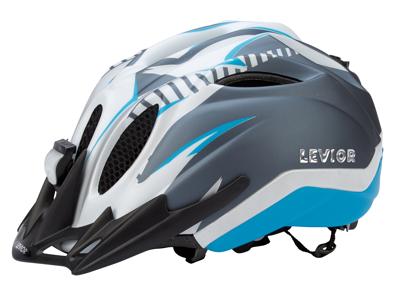 Levior cykelhjelm Primo Refleks Str. 52-58 cm - Hvid-Blå-Matt