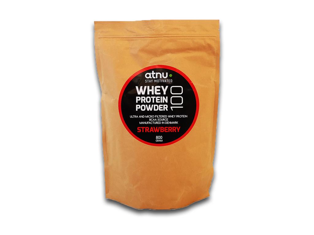 Image of Atnu Proteinpulver - Jordbær - 800 gram