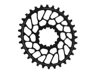 absoluteBLACK Oval klinge - Sram - Direct mount - Offset 0 mm - 34 tænder - Sor