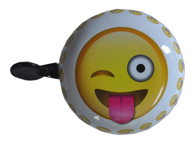 Emoticon crazy - Ringklocka - Blink smiley