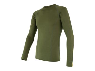 Sensor Merino Active - Merinoulds undertrøje med lange ærmer - Grøn