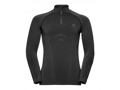 Odlo - Evolution Warm Shirt Turtle Neck - Herre - Sort/Grå