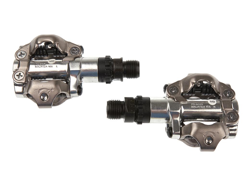 Image of   Shimano pedaler MTB SPD model PD-M520 Farve: Sølv