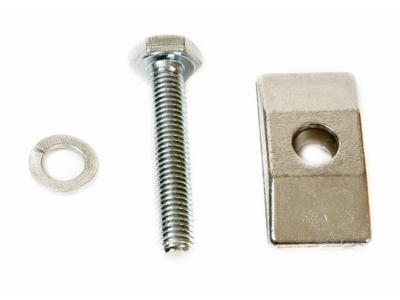 Beslag til støtteben bred sølv
