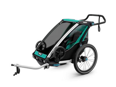 Thule Chariot Lite 1 - Multisportkärra till 1 barn - Svart/Grön