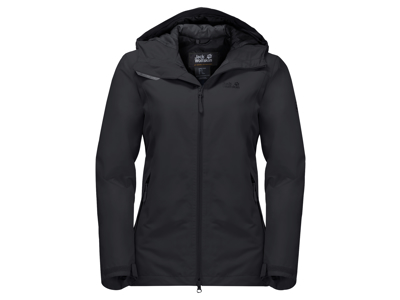 Jack Wolfskin Chilly Morning JKT W. - Vandtæt damejakke m. for - Sort