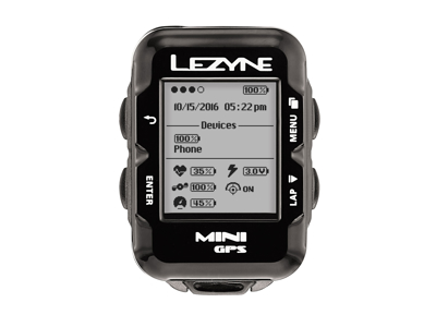 Lezyne Mini GPS HR Loaded - Cykelcomputer - Bundle med pulsbælte