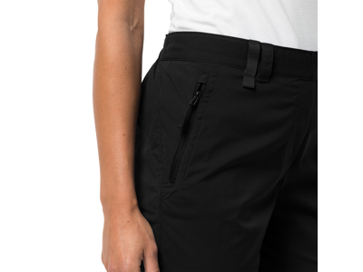 Jack Wolfskin Activate Light - 3/4 Shorts - Dame - Sort