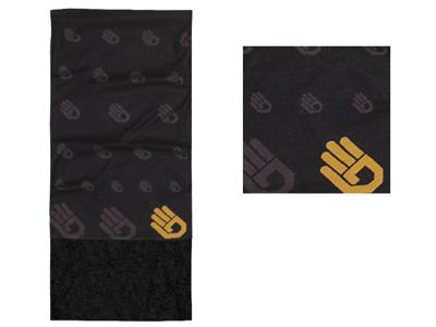 Sensor Fleece Halsedisse - Multifunktionel - Sort med print - Onesize
