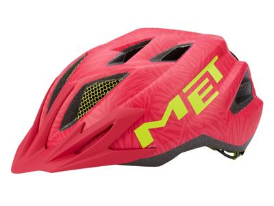 Met Crackerjack - Junior cykelhjelm - Pink/grøn - Str. 52-57 cm