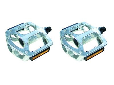 Pedaler Point Mono Block sølv til BMX