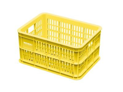 Basil Crate S - Plast kurv - Til opbevaring eller bagagebærer - Lemon