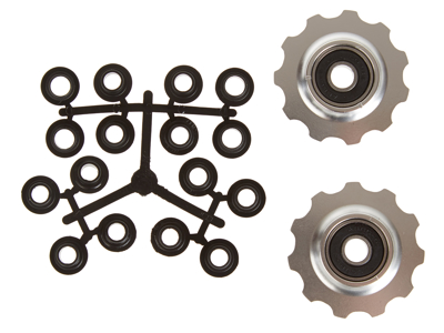 Pulleyhjul 11 tands i aluminium sølv med lukkede lejer - Shimano 9 og 10 gear
