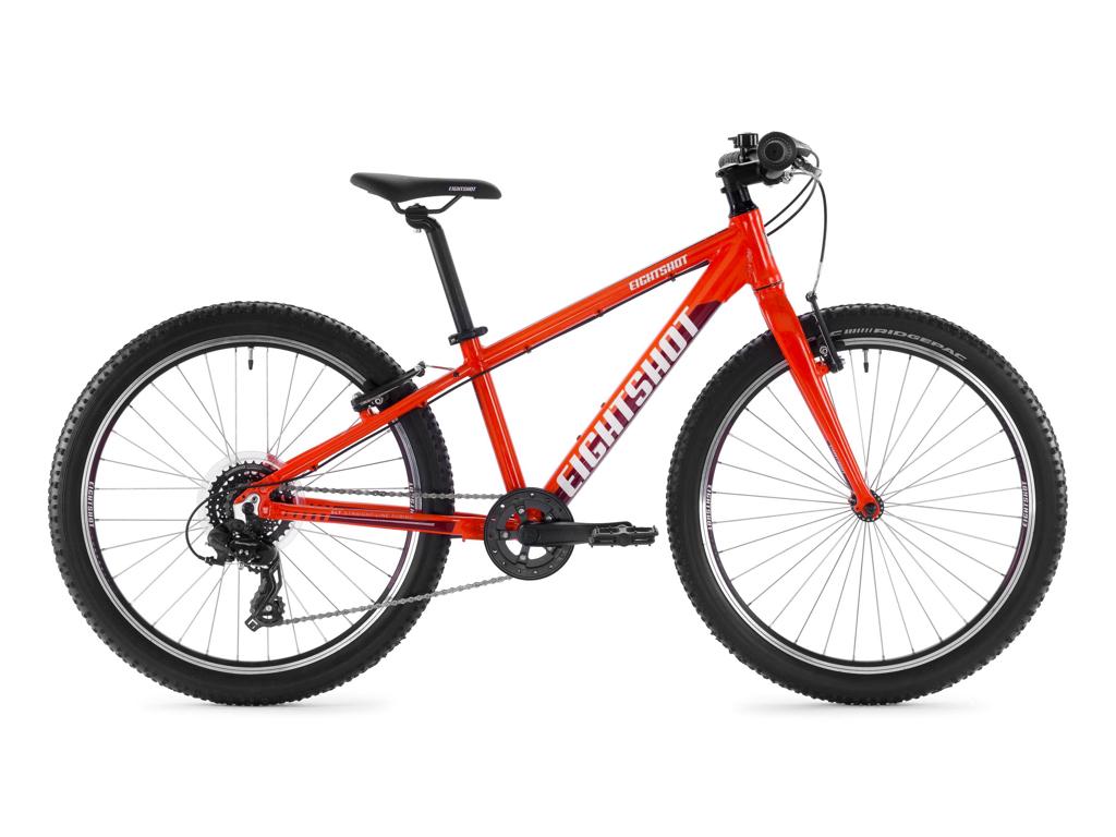 "Eightshot X-Coady 24 SL - MTB Børnecykel 24"" - Orange/rød/hvid"