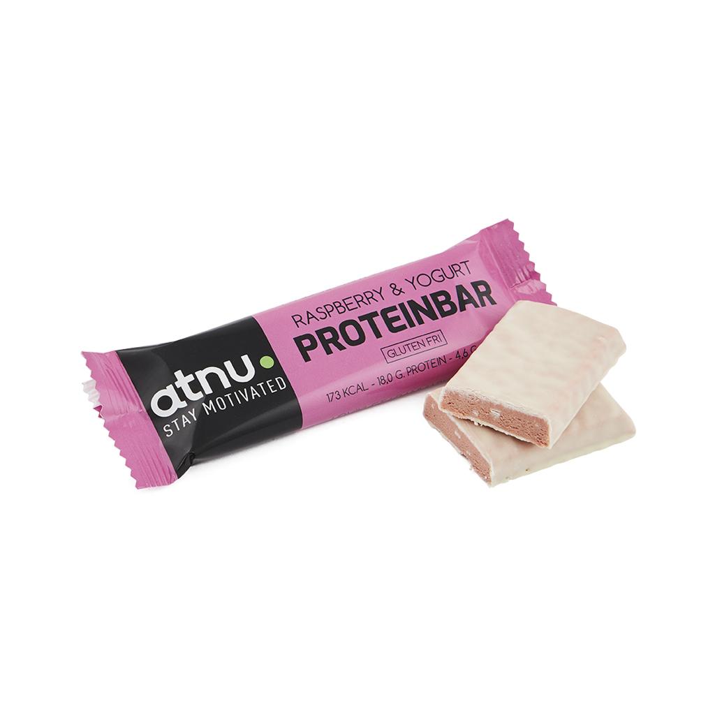 Atnu Proteinbar - Hindbær - 50 gram   Proteinbar og -pulver