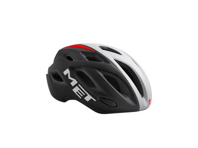 MET Idolo - Cykelhjelm - Sort/Hvid/Rød