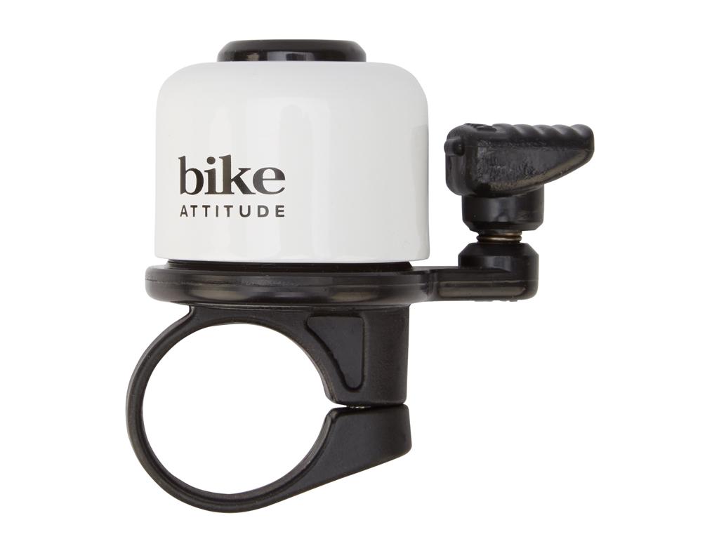 Bike Attitude - Ringeklokke - Hvid med fjederhammer