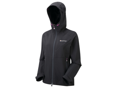 Montane Womens Dyno Stretch Jacket - Softshell Dame - Sort