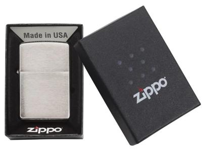 Zippo Brushed Chrome - Lighter - Børstet krom