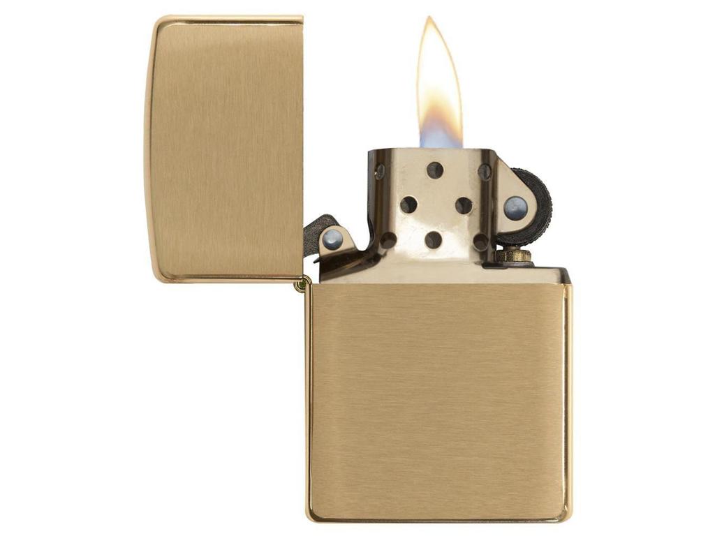 Zippo Brushed Brass - Lighter - Børstet messing thumbnail