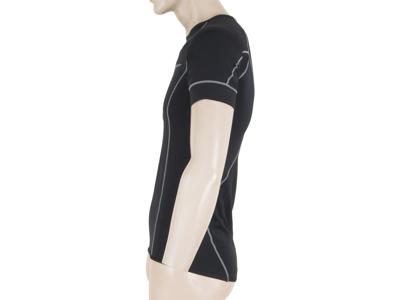 Sensor Coolmax Fresh - Svedundertrøje med korte ærmer til herrer - Sort