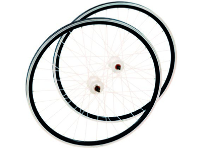 Hjulset - 700c - Single Speed - Svart/Vit