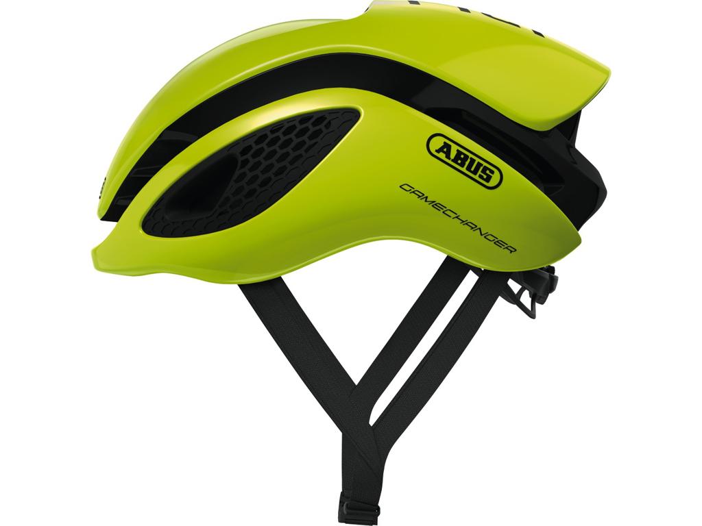Image of   Abus GameChanger - Aero cykelhjelm - Neon gul - Str. L