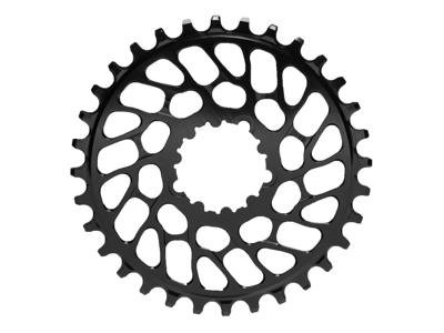 absoluteBLACK Rund klinge - Sram - Direct mount - Offset 0 mm - 34 tænder - Sort
