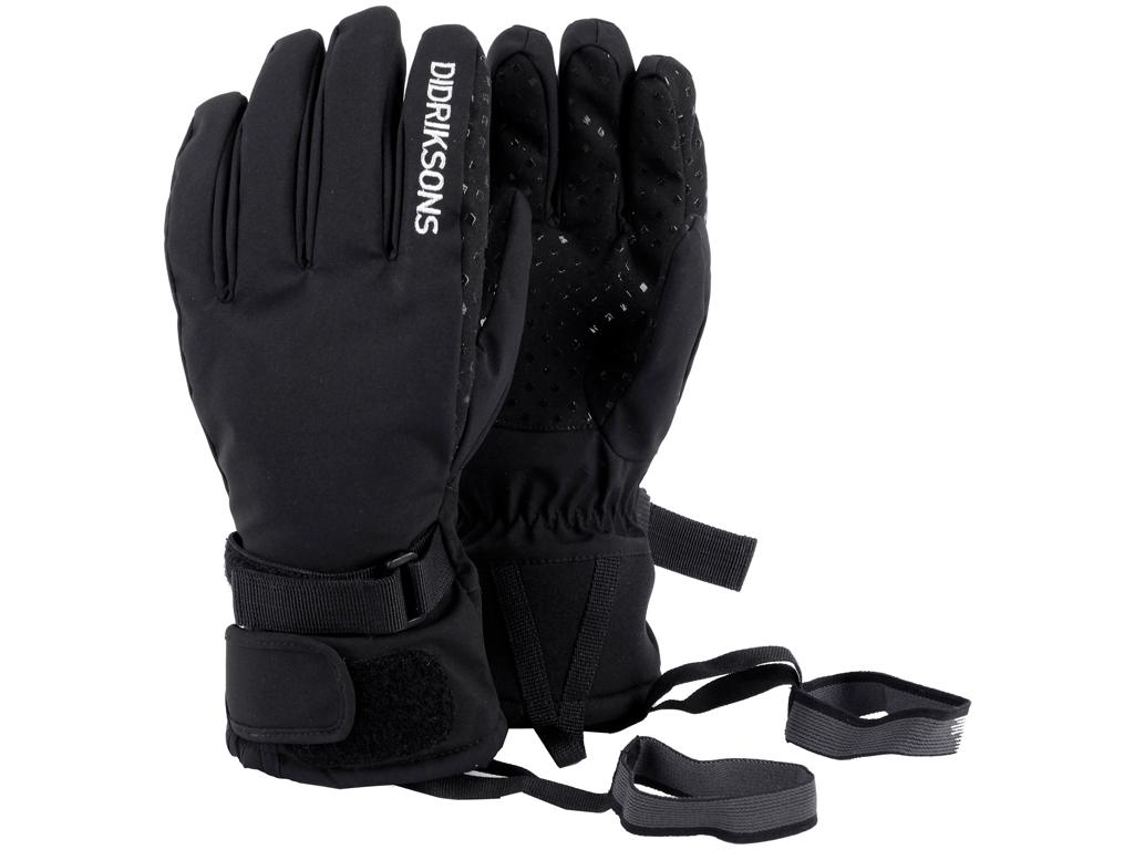 Didriksons Five Youth Gloves - Handske Børn - Sort -  Str. 6 thumbnail