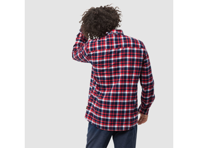 Jack Wolfskin Bow Valley Shirt - Skjorte herre - Tern Rød