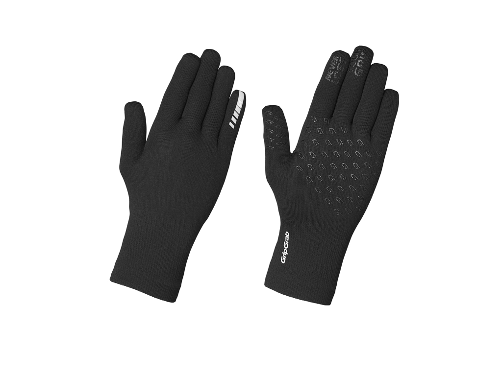 GripGrab Waterproof Knitted Thermal Glove - Vandtætte vinterhandsker - Sort - Str. XS/S thumbnail