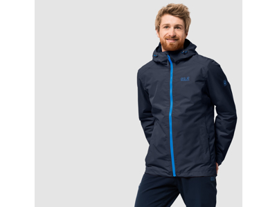 Jack Wolfskin Chilly Morning Men - Vandtæt herrejakke m. for - Blå