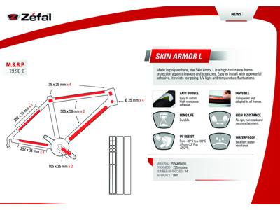 Zefal Skin Armor L - Stelbeskyttelse - 14 dele