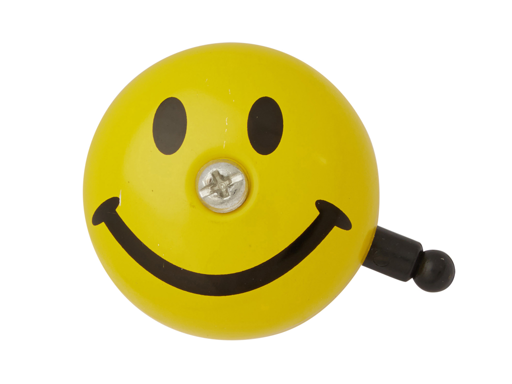 Image of   Atredo - Ringeklokke - Smiley - Gul